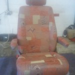 Recovered Camper Seat