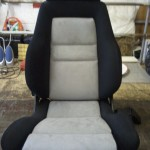 Recaro Seat in Black Nylon Padding and Grey Alcantara