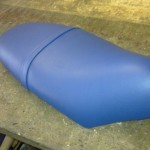Scooter Seat in Blue Vinyl