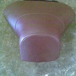 Scooter Seat in Brown Vinyl